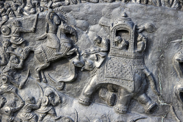 War Scene on Wall