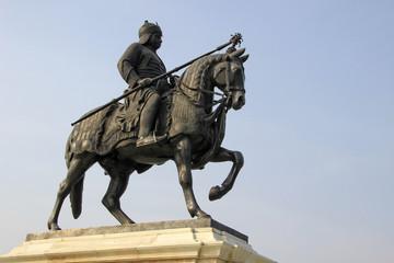 Warrior on Horse Back