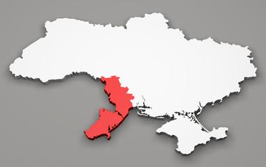 Mappa Ucraina, divisione regioni, Odessa