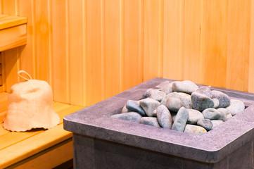 elements steam room sauna closeup