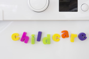 Magnetic Letters On Washing Machine Spelling Childcare