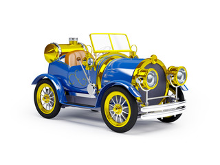 1910 blue retro car