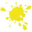 canvas print picture - Farbklecks gelb