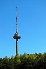 Vilnius tv tower - highest building of lithuanian capital