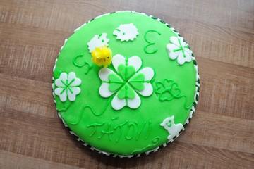 Beautiful green tasty cake