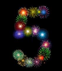 Zahl Feuerwerk - 5