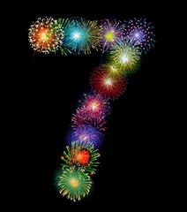 Zahl Feuerwerk - 7