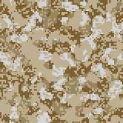 Desert sand vector seamless camo