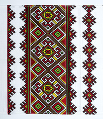 embroidered good by cross-stitch pattern. ukrainian ethnic ornam