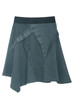 blue asymmetric skirt