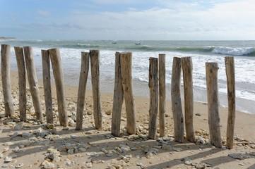 Brise-vagues en bois