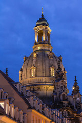 Frauenkirche Dresden am Abend