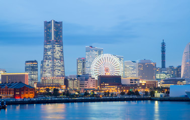Yokohama Skyline dusk