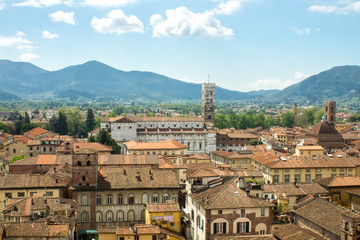 City centre of Lucca in Tuscany