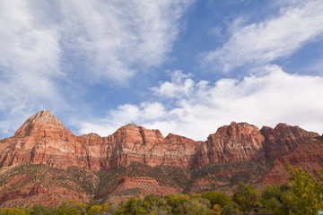 view on zion national park utah