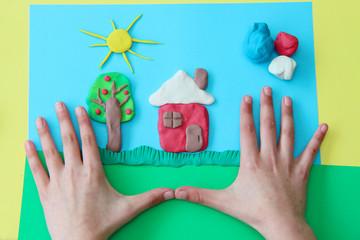 Mein Haus aus Knete