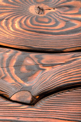 Old dark wooden board