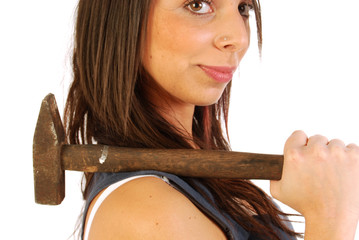 A girl full of irony and armed with a hammer 163