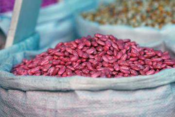 Graine de haricots rouges en vrac