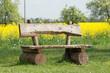 canvas print picture - Gartenbank im Park