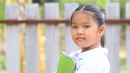 Closeup of young asian student