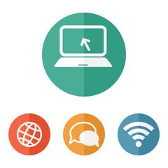 color circular communication icons