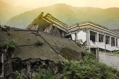 Damage Buildings of Wenchuan Earthquake,Sichuan - 64451599