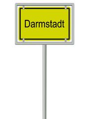 Ortsschild - Darmstadt