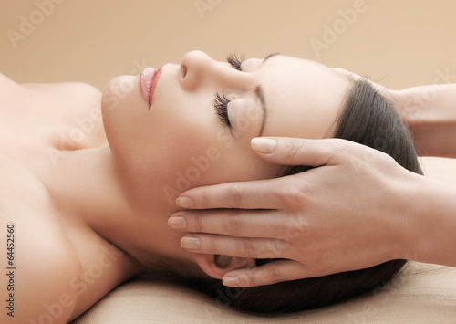 asian woman in spa