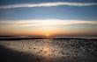 canvas print picture - Sonne über dem Watt