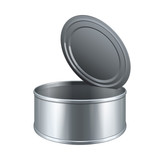 Opened Short Tincan Metal Tin Can, Canned Food