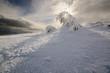 Fantastic winter landscape. Carpathian, Ukraine. - 64454307