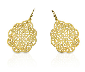 Gold Filigree Dangle Earrings