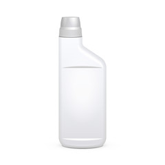 Toilet Cleaning Gel Plastic Bottle On White Background