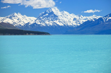 Mt Cook with Lake Pukaki,  New Zealand