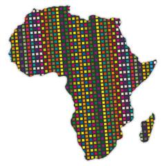 Kontinent Afrika in Mosaikfarben