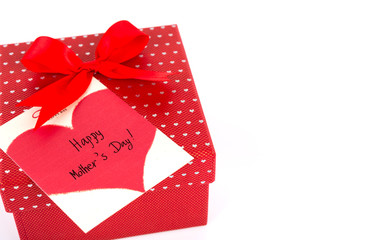 Red Mother's Day gift box