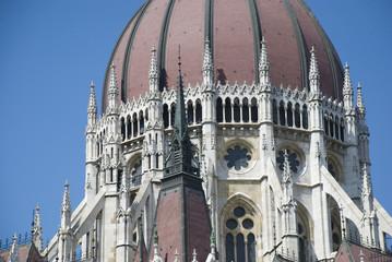 kuppel des Parlaments von budapest