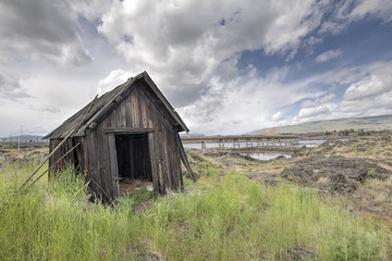 Old Abandoned Native American Fishing Shack