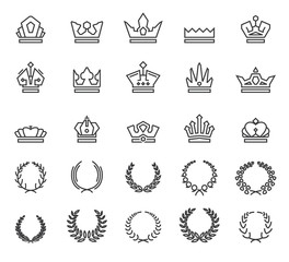 Icons wreaths and crowns