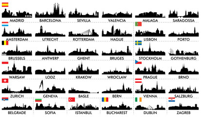 City ​​skyline European countries2