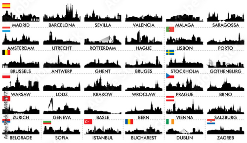 City ​​skyline European countries2 - 64455771
