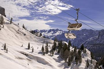 Ski in Dolomites, Italy