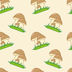 Mushrooms seamless texture