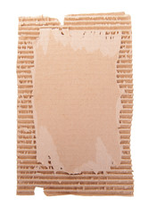 Cardboard isolated on white