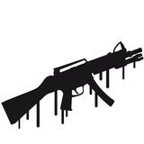 eSport Shooter Waffe Killer Graffiti poster