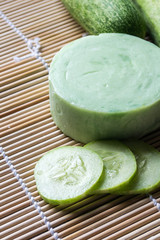 handmade soap from cucumber