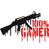 100 % eSport Shooter Waffe Killer poster