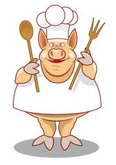 Pig Chef Mascot