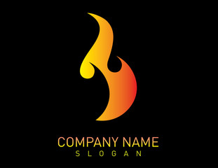 flame logo black background